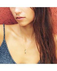 Puck Wanderlust - Metallic Gold Blue Chalcedony Eternity Ring Necklace - Lyst