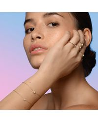 Aletheia & Phos - Metallic Cor Luna Bracelet White Topaz - Lyst
