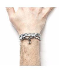 Anchor & Crew - Gray Grey Dash Kedge Rope Bracelet for Men - Lyst