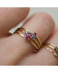 Irena Chmura Jewellery - Multicolor Magenta Sapphire Solitaire Ring - Lyst