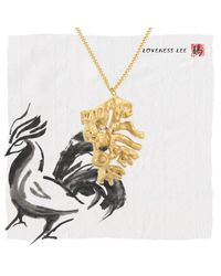 Loveness Lee - Metallic Chinese Zodiac Rooster Horoscope Gold Pendant Necklace - Lyst