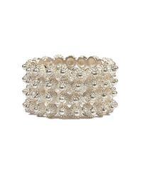Vanilo - Gray Rosario Ring - Lyst
