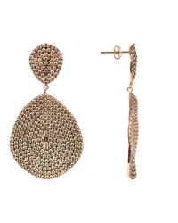 Latelita London - Metallic Monte Carlo Earring Rosegold Champagne - Lyst