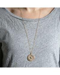 Bark   Metallic Silver Sunburst Necklace   Lyst