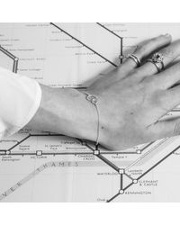 Auree Jewellery - Metallic Ilias Silver & Gold Interlinking Rings Bracelet - Lyst