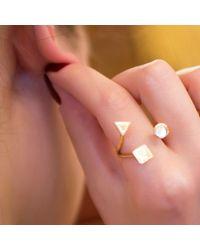 Sadekar Jewellery - Multicolor A Triple Ring - Lyst