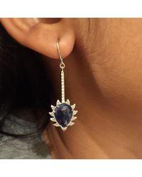Meghna Jewels - Blue Turquoise & Diamonds - Lyst