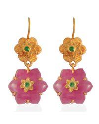 Emma Chapman Jewels - Red Lalitha Ruby Tsavorite Earrings - Lyst