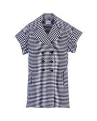 Acephala - Blue Tailored Gingham Dress - Lyst