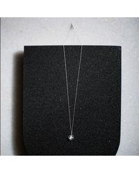 KIND Jewellery - Metallic Silver Mini Elements Disc Necklace - Lyst