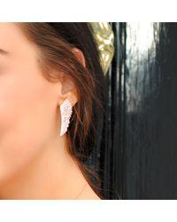 Latelita London - Metallic Large Angel Wing Earring Silver - Lyst