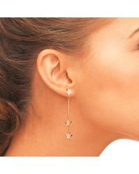 Latelita London - Multicolor Cosmic Asymmetric Star White Topaz Earring Rosegold - Lyst
