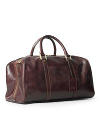 Maxwell Scott Bags - Luxury Italian Leather Small Travel Bag Fleros Dark Chocolate Brown for Men - Lyst