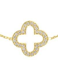 Latelita London - Metallic Open Clover Bracelet Gold - Lyst