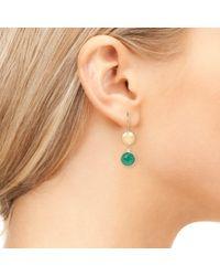 Latelita London - Circle & Hammer Earring Green Onyx - Lyst