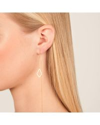 Dutch Basics - Metallic The 'ruit' Drop Earring Rose Gold - Lyst