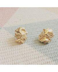 Karolina Bik Jewellery - Metallic Gniot Earrings Silver - Lyst