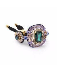 Izabela Felinski - Multicolor Stylish Emerald Bracelet - Lyst