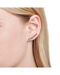 Astrid & Miyu - Metallic Black Magic Hexagon Earrings In Silver - Lyst