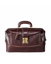 Maxwell Scott Bags - The Donnini S Small Luxury Leather Medical Bag Chocolate Brown for Men - Lyst