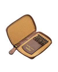 Maxwell Scott Bags - Brown Luxury Chestnut Tan Leather Key Case Vinci for Men - Lyst
