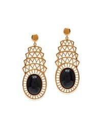 Alexandra Alberta - Metallic Khrysler Black Onyx Earrings - Lyst