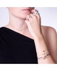 MKS JEWELLERY - Multicolor Emerald Drop Cut Gold Sparkly Me Bracelet - Lyst