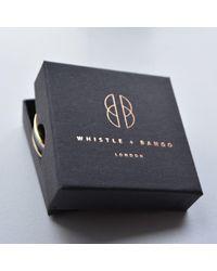 Whistle & Bango - Metallic Grey Alphabet Bangle Regular - Lyst