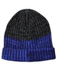 Lords of Harlech - Benny Beanie In Blue & Charcoal for Men - Lyst