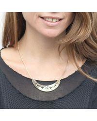 Mademoiselle Felee - Metallic Paris Arch Necklace Silver - Lyst