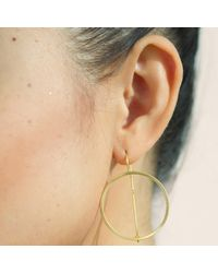 Dutch Basics - Metallic Waves Earrings Gold - Lyst