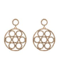 Latelita London - Metallic Olympics Earring Rosegold Champagne - Lyst