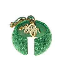 Latelita London - Stingray Statement Cuff Emerald Green - Lyst