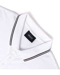 Armani Jeans - White Twin Tipped Short Sleeve Polo Shirt for Men - Lyst
