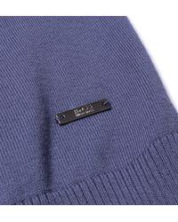 BOSS - Fabbert-o Airforce Blue V-neck Knitted Sweatshirt for Men - Lyst