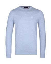 Henri Lloyd - Blue Burgundy Miller Regular Crew Neck Knitted Sweater for Men - Lyst