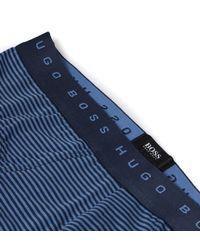 BOSS - Navy & Blue Fine Stripe Cotton Stretch Briefs for Men - Lyst