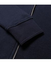 Original Penguin - Blue Dark Sapphire Zip Through Hooded Pique Sweatshirt for Men - Lyst