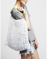 Wool And The Gang | White Milo Beach Bag | Lyst