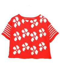 Wool And The Gang | Red Hot Stuff Top | Lyst