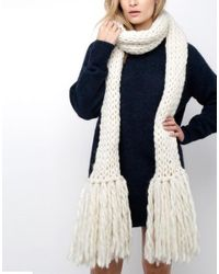 Wool And The Gang | White Shaggy Scarf | Lyst