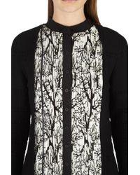Yigal Azrouël - Black Pleated Branches Print Dress - Lyst