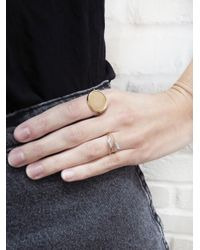 Ginette NY - Pink Rose Gold Disc Ring - Lyst