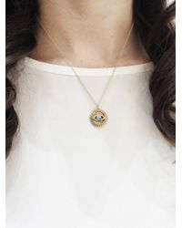 Ileana Makri - Metallic Turquoise And Gold Evil Eye Necklace - Lyst