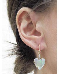 Irene Neuwirth - Metallic One-of-a-kind 5.39 Carved Opal Heart Single Earring - Lyst