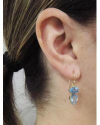 Irene Neuwirth - Multicolor One-of-a-kind Oval And Teardrop Aquamarine Earrings - Lyst
