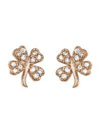 Jennifer Meyer - Metallic Mini Diamond Clover Stud Earrings - Lyst