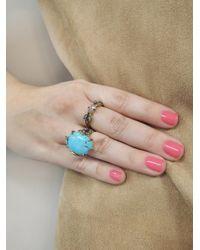 Cathy Waterman - Metallic Diamond Marquise Leaf Ring - Lyst