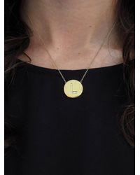 Jennifer Meyer - Metallic Diamond Letter Pendant Necklace - Lyst