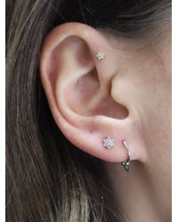Maria Tash - Multicolor 4.5mm Diamond Flower Thread Through Single Earring - Lyst